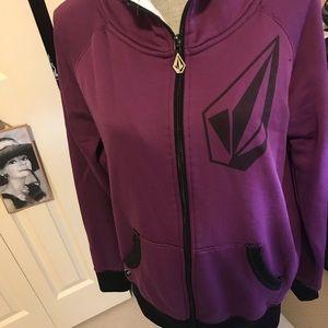 XL auth Volcom zip hoodie